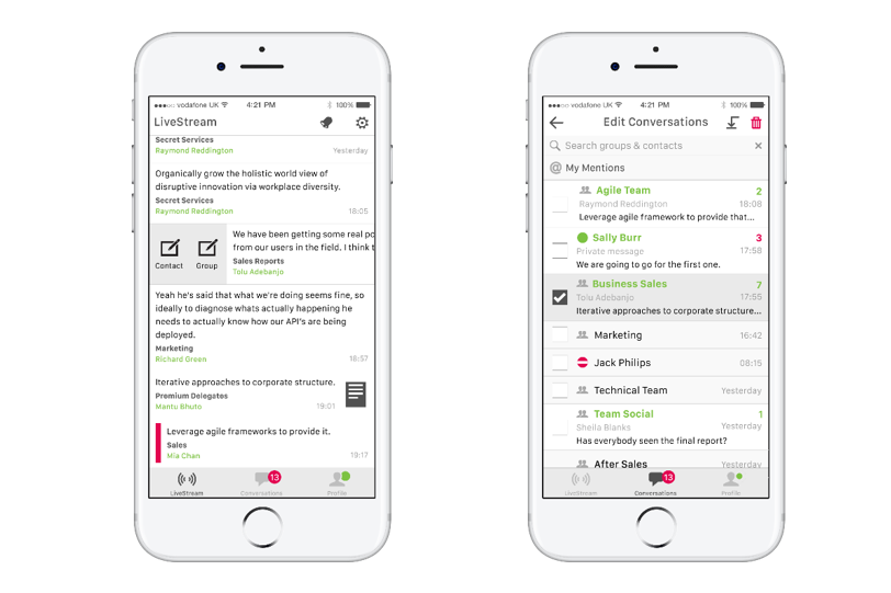 MindLink Mobile - the secure & containerized mobile client for Lync/Skype for Business that supports Persistent Chat